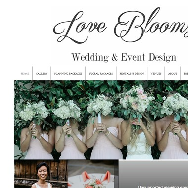 Love Blooms wedding vendor preview