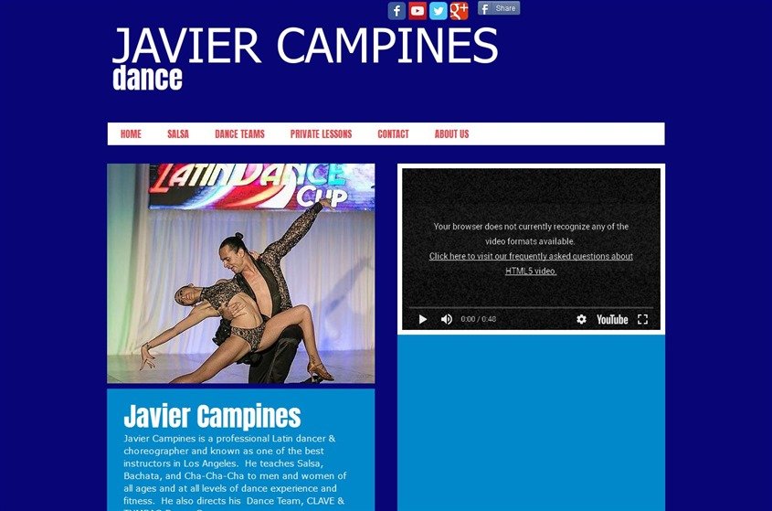 Javier Campines Dance wedding vendor photo