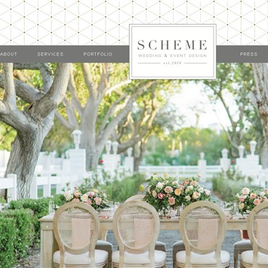 Scheme Events wedding vendor preview