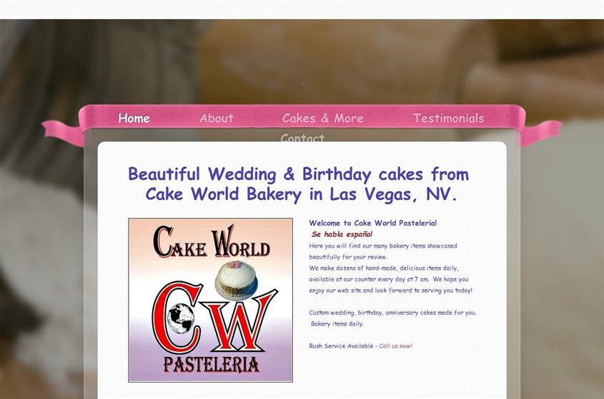 Cake World Bakery Wedding Vendor Photo