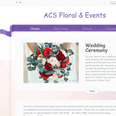 ACS Floral and Events wedding vendor preview