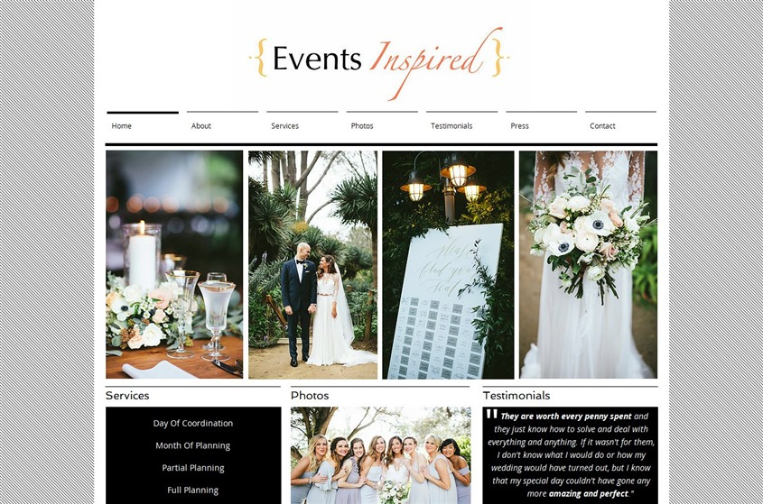 Events Inspired wedding vendor photo