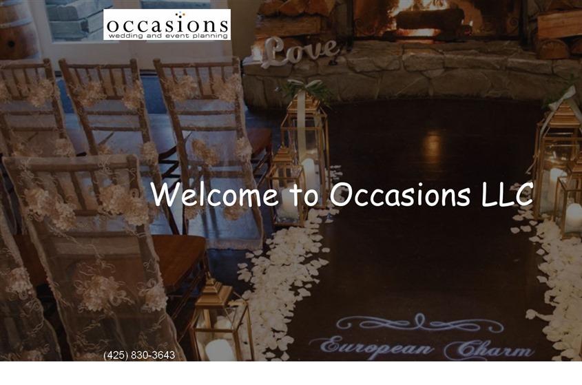 Occasions, LLC wedding vendor photo