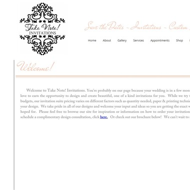 Take Note Creations wedding vendor preview
