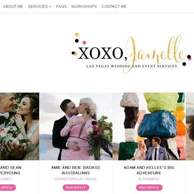 XOXO Jamelle wedding vendor preview