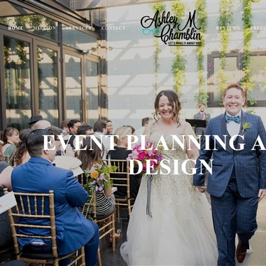 Ashley M Chamblin Events wedding vendor preview