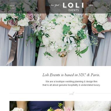 Loli Events wedding vendor preview