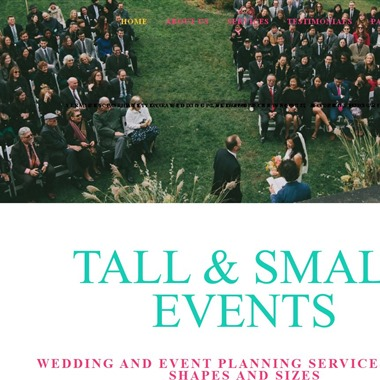 Tall & Small Events wedding vendor preview