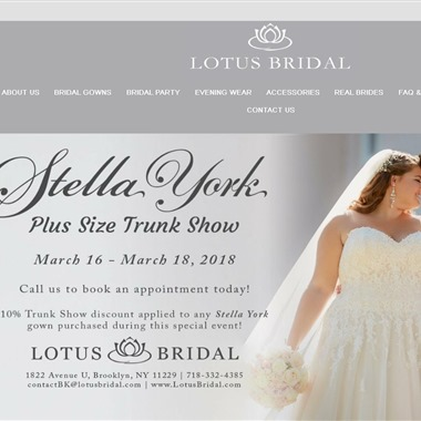Lotus Bridal wedding vendor preview