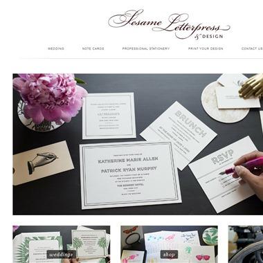 Sesame Letterpress wedding vendor preview