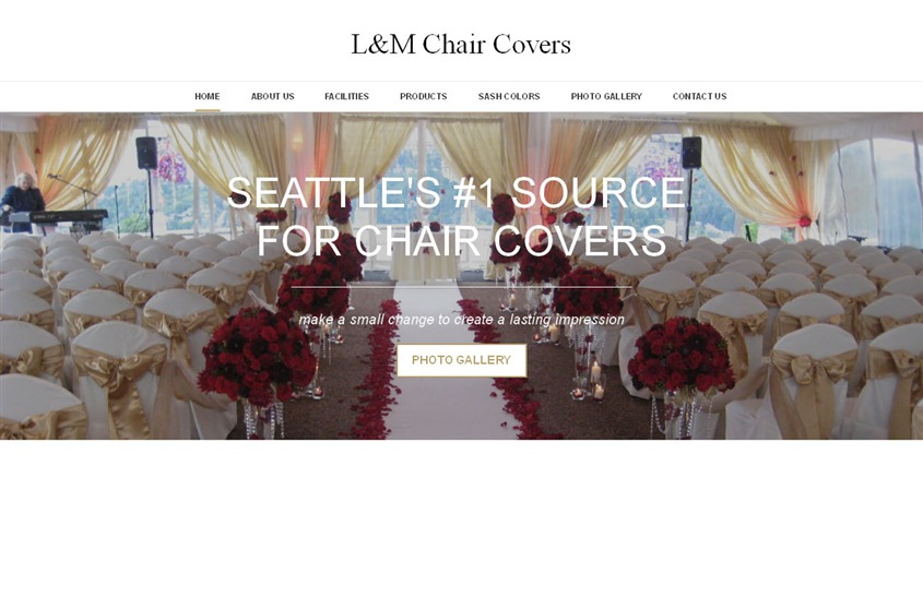 L&M chair covers wedding vendor photo