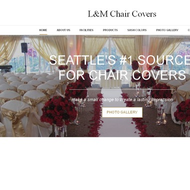 L&M chair covers wedding vendor preview