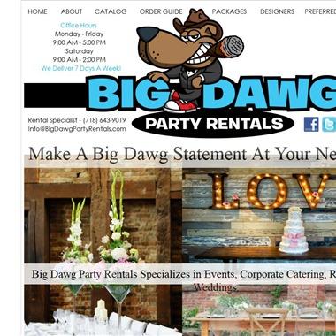 Big Dawg Party Rentals wedding vendor preview