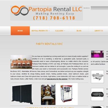 Partopia Rentals wedding vendor preview