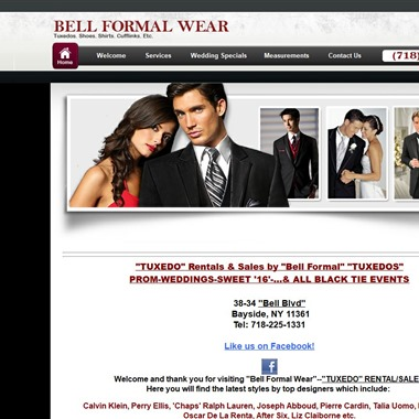 Bell Formal Wear wedding vendor preview