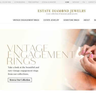 Estate Diamond Jewelry wedding vendor preview