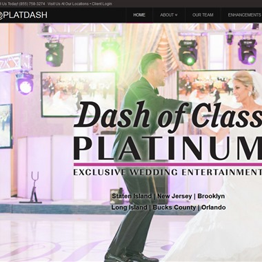 Dash of Class Platinum Entertainment wedding vendor preview
