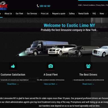 Exotic Limo NY wedding vendor preview