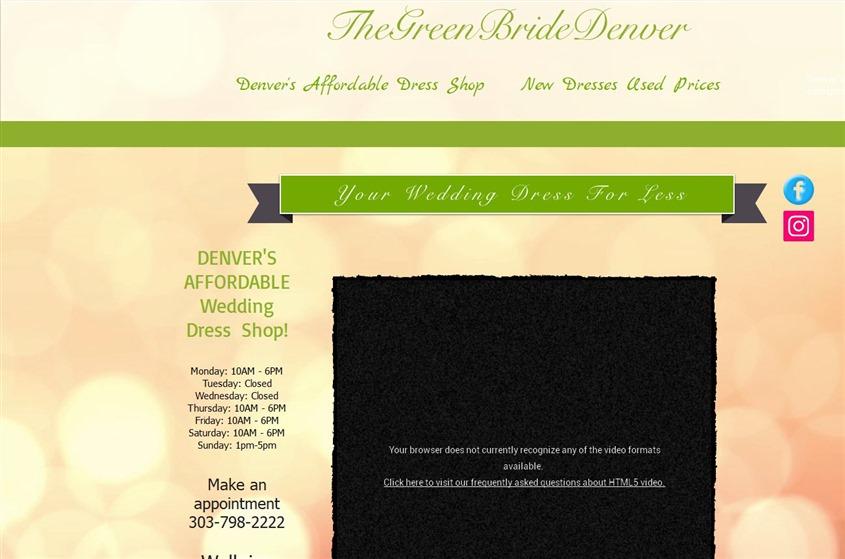 The Green Bride Denver Denver Wedding Bridal Boutique