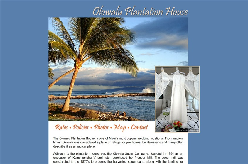 Olowalu Plantation House wedding vendor photo