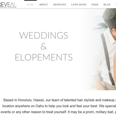 Reveal Hair & Makeup wedding vendor preview