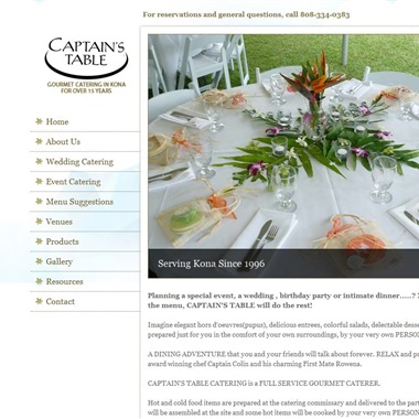 Captain's Table Catering wedding vendor preview
