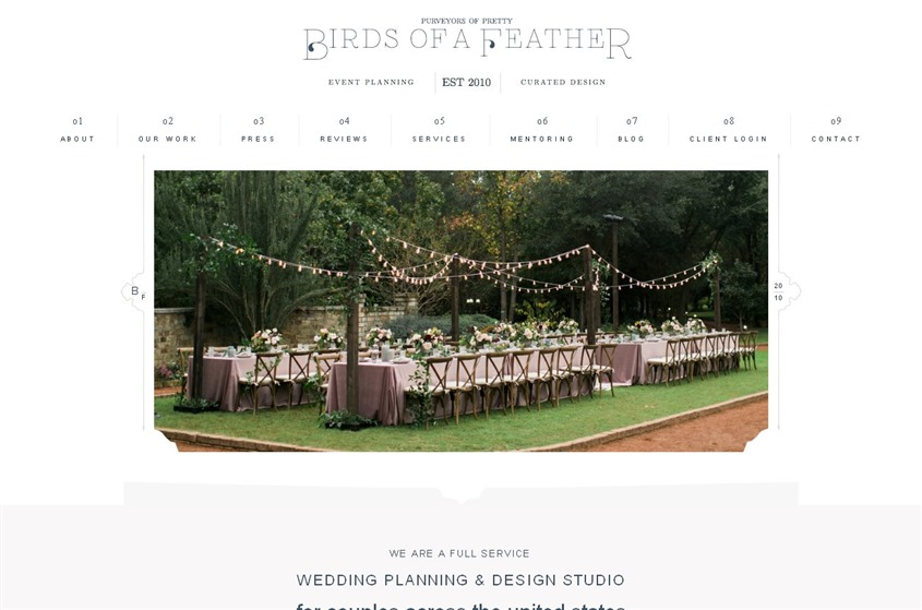Birds of a feather wedding vendor photo
