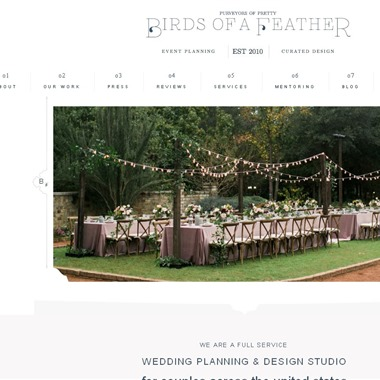Birds of a feather wedding vendor preview