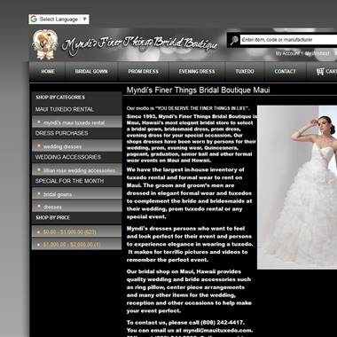 Myndi's Finer Things Bridal Boutique  wedding vendor preview