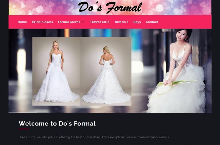 Do's Formal wedding vendor photo