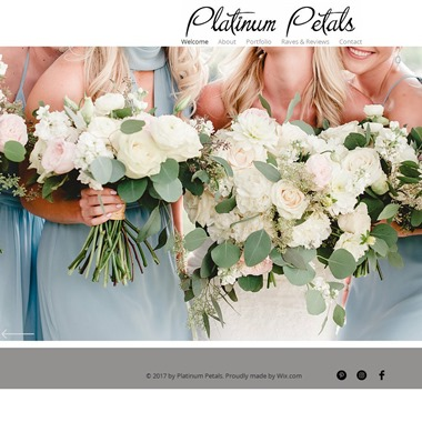 Platinum Petals wedding vendor preview