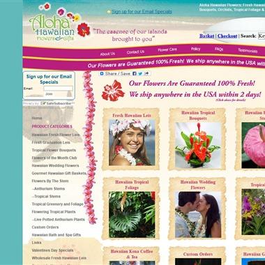 Aloha Hawaiian Flowers wedding vendor preview