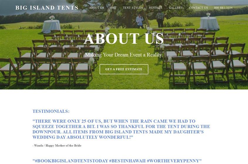 Big Island Tents wedding vendor photo