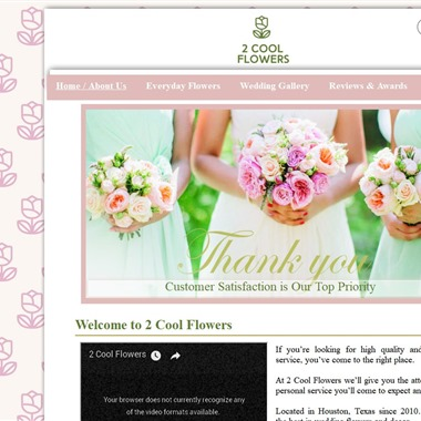 2 Cool Flowers wedding vendor preview