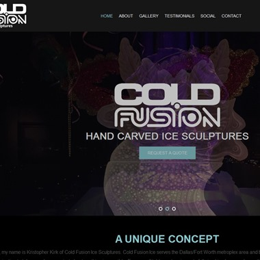 ColdFusion Ice wedding vendor preview