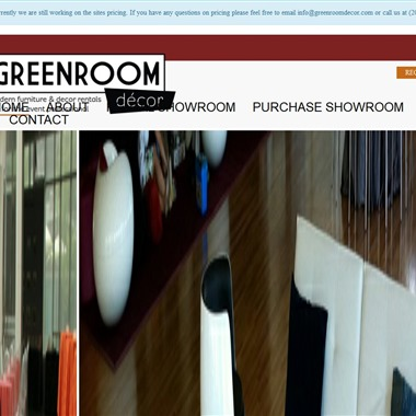 Greenroom Decor wedding vendor preview