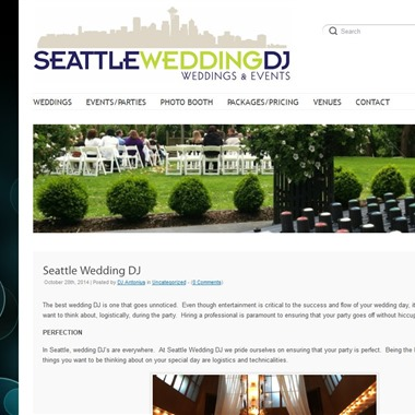 Seattle Wedding DJ wedding vendor preview