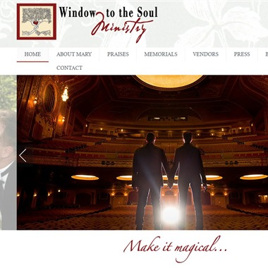 Window to the Soul Ministry wedding vendor preview