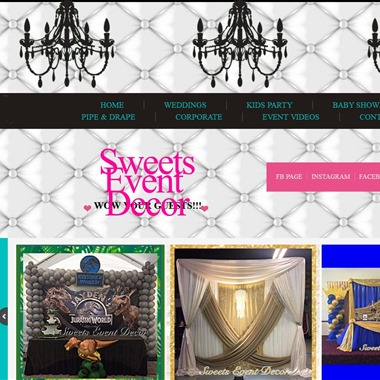 Sweets Event Decor wedding vendor preview