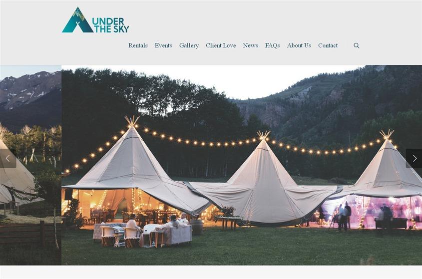 Under The Sky Event Rental wedding vendor photo