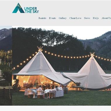 Under The Sky Event Rental wedding vendor preview