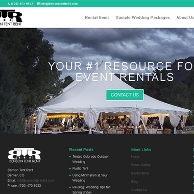 Benson Tent Rent wedding vendor preview