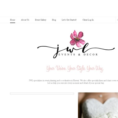 JWL Events & Decor wedding vendor preview