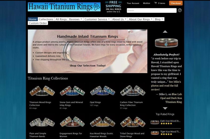 Hawaii Titanium Rings wedding vendor photo
