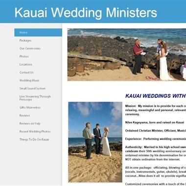 Kauai Wedding Ministers wedding vendor preview