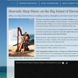 Photo of Harpist Tatyana, a wedding musician in Hawaii
