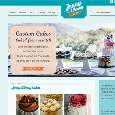 Jenny Wenny Cakes wedding vendor preview