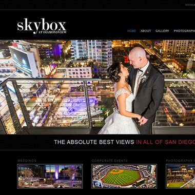 The Skybox wedding vendor preview