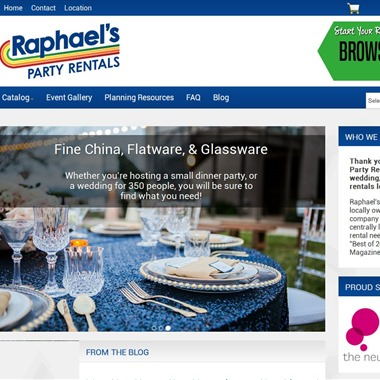 Raphael's Party Rentals wedding vendor preview