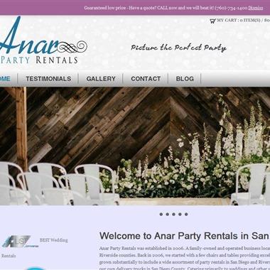 Anar Party Rentals wedding vendor preview